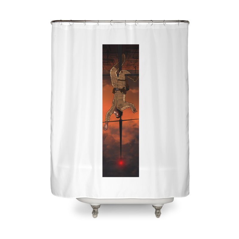 Hang in There-Luke Home Shower Curtain by City of Pyramids's Artist Shop
