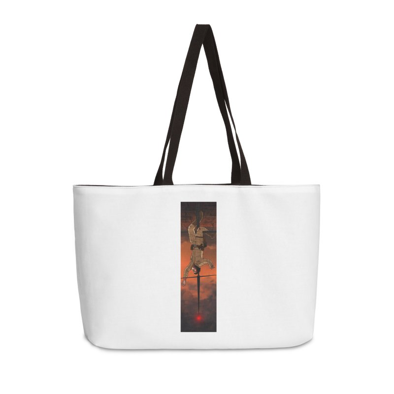 Hang in There-Luke Accessories Weekender Bag Bag by City of Pyramids's Artist Shop