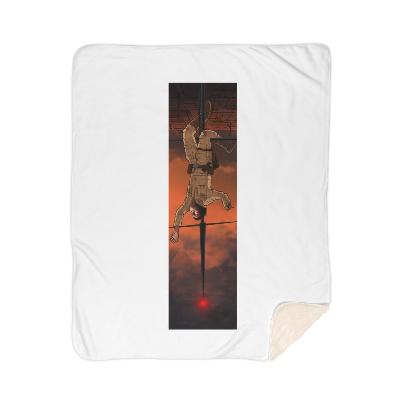 Hang in There-Luke Home Sherpa Blanket Blanket by City of Pyramids's Artist Shop