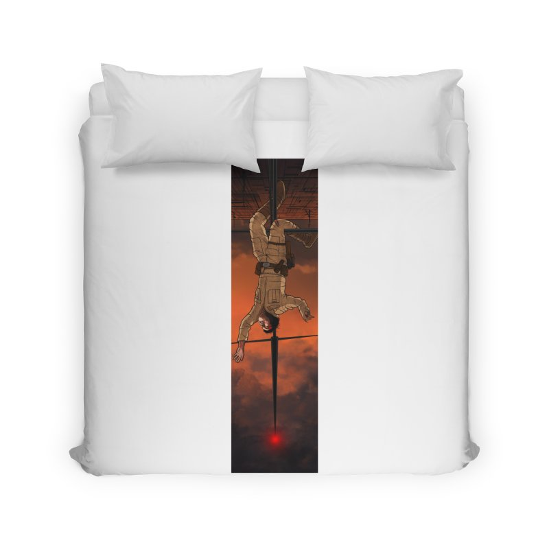 Hang in There-Luke Home Duvet by City of Pyramids's Artist Shop