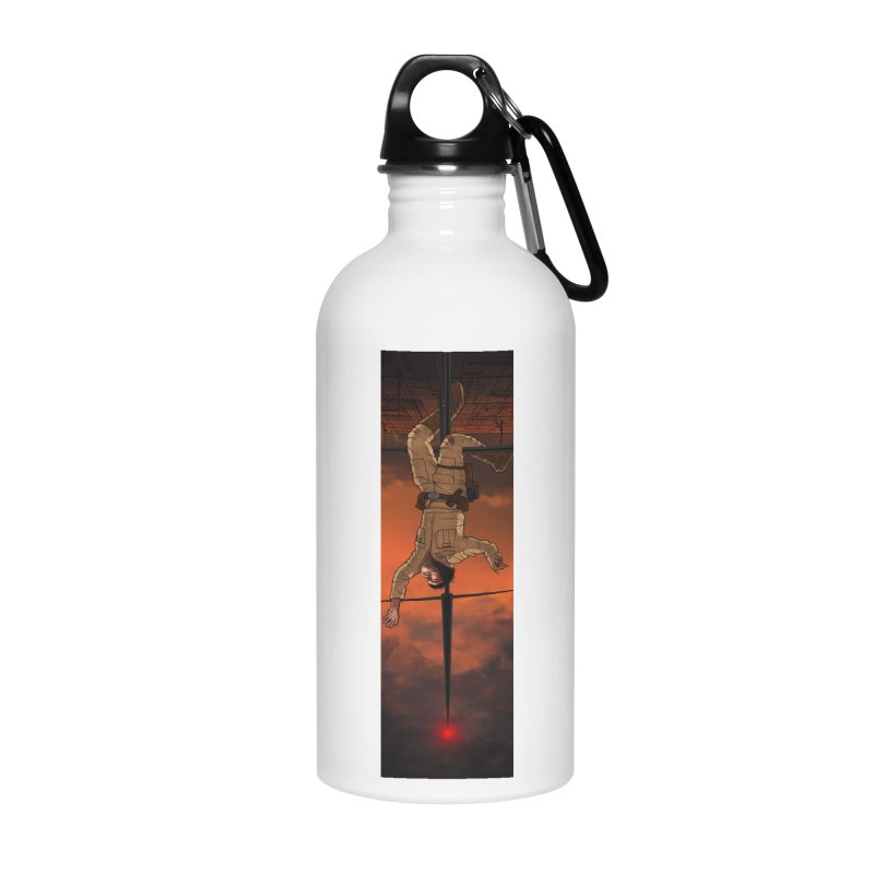 Hang in There-Luke Accessories Water Bottle by City of Pyramids's Artist Shop