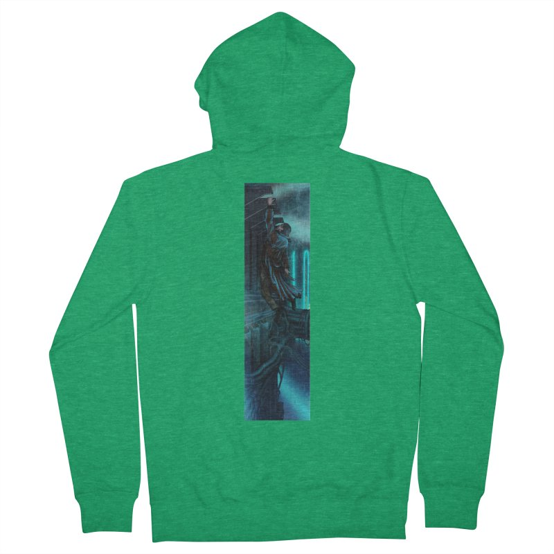 Hang in There-Deckard Women's French Terry Zip-Up Hoody by City of Pyramids's Artist Shop