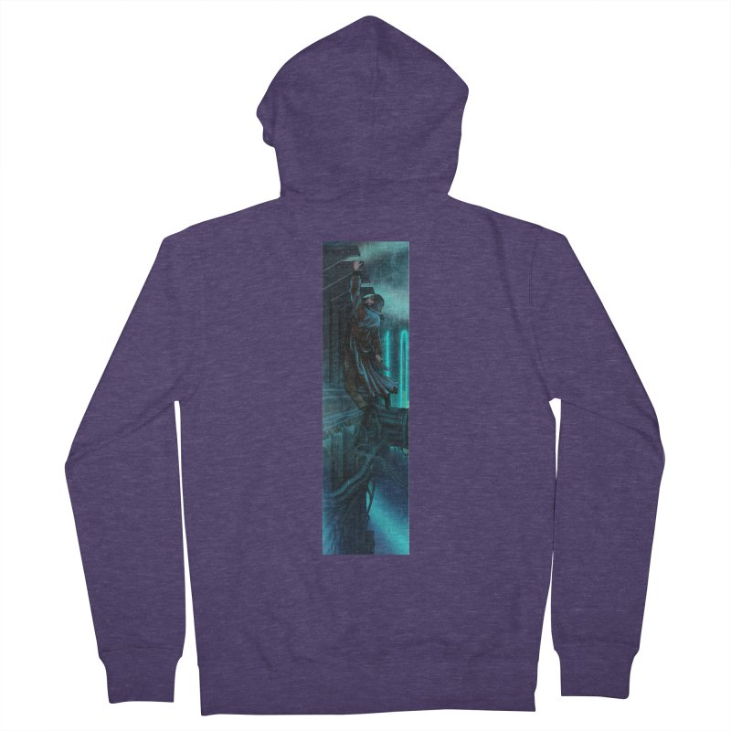 Hang in There-Deckard Men's French Terry Zip-Up Hoody by City of Pyramids's Artist Shop