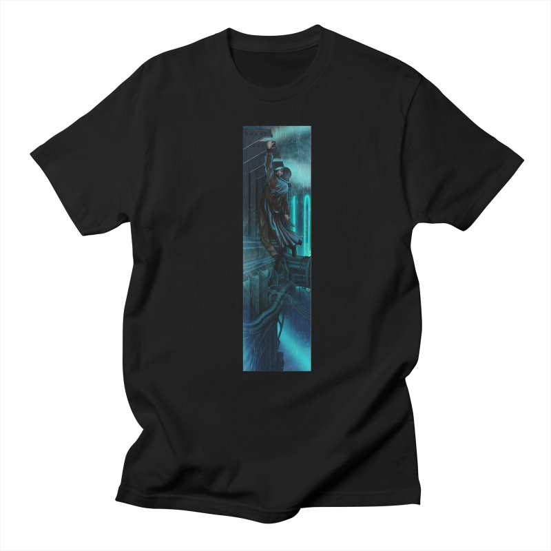 Hang in There-Deckard in Men's Regular T-Shirt Black by City of Pyramids's Artist Shop