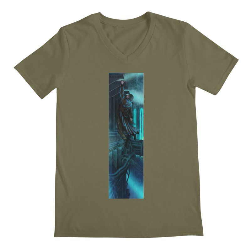 Hang in There-Deckard Men's Regular V-Neck by City of Pyramids's Artist Shop