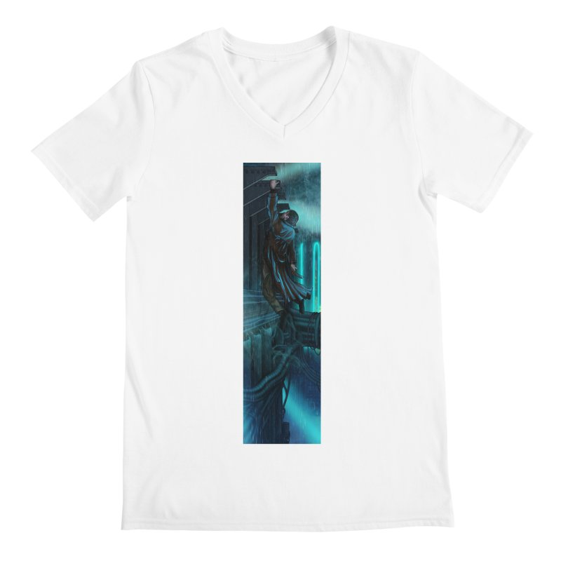 Hang in There-Deckard Men's V-Neck by City of Pyramids's Artist Shop