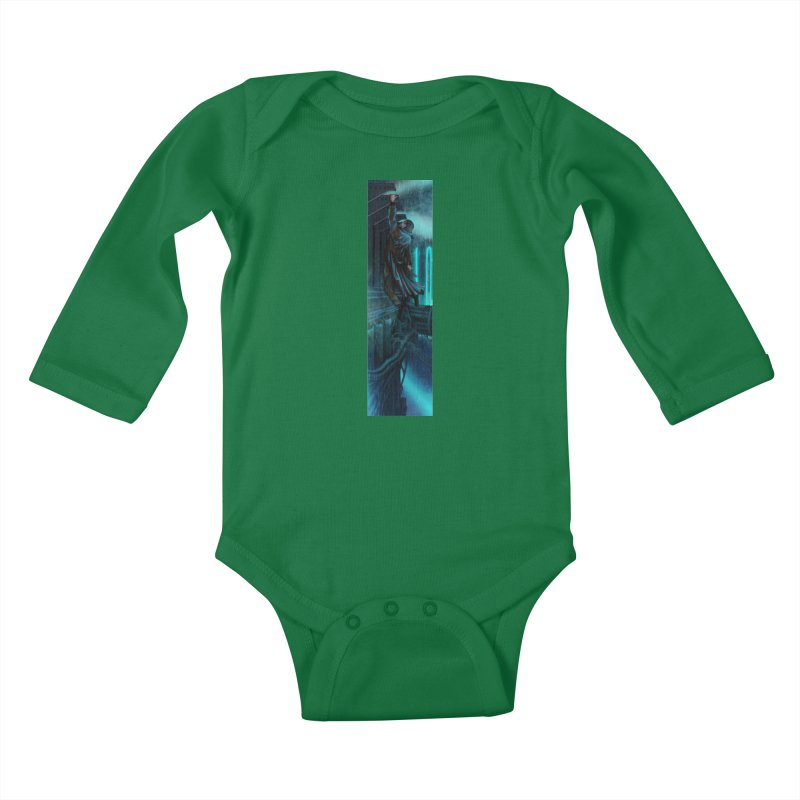 Hang in There-Deckard Kids Baby Longsleeve Bodysuit by City of Pyramids's Artist Shop