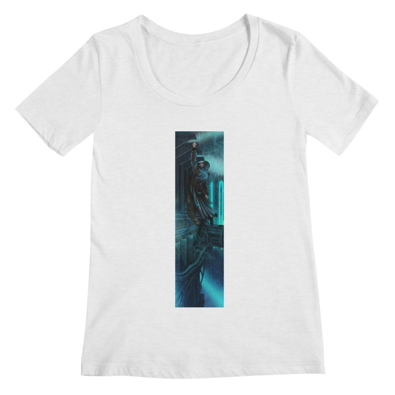 Hang in There-Deckard Women's Regular Scoop Neck by City of Pyramids's Artist Shop