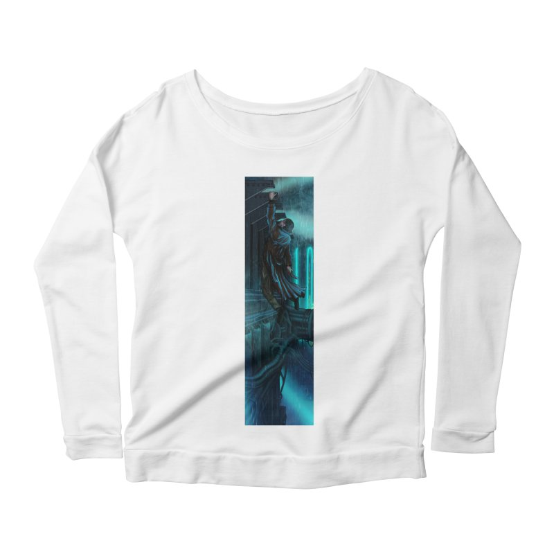 Hang in There-Deckard Women's Scoop Neck Longsleeve T-Shirt by City of Pyramids's Artist Shop