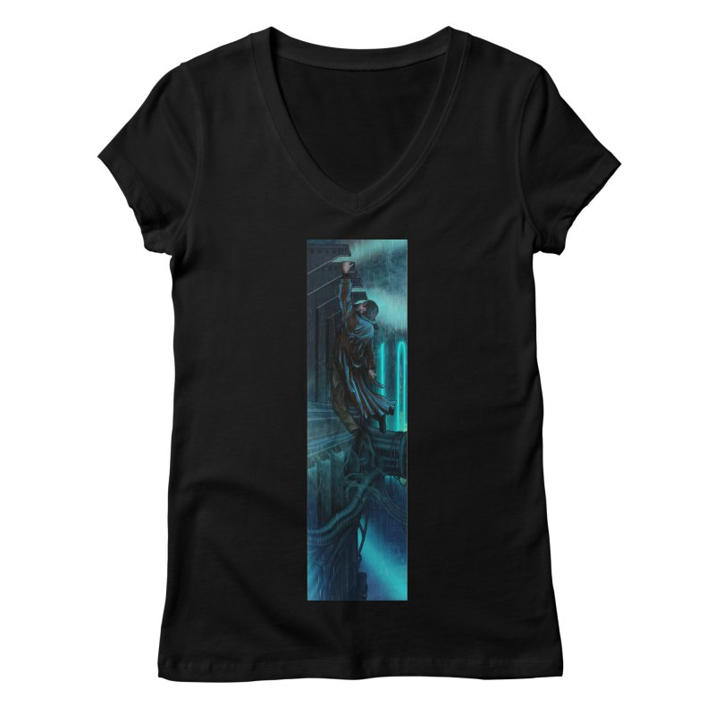 Hang in There-Deckard Women's V-Neck by City of Pyramids's Artist Shop
