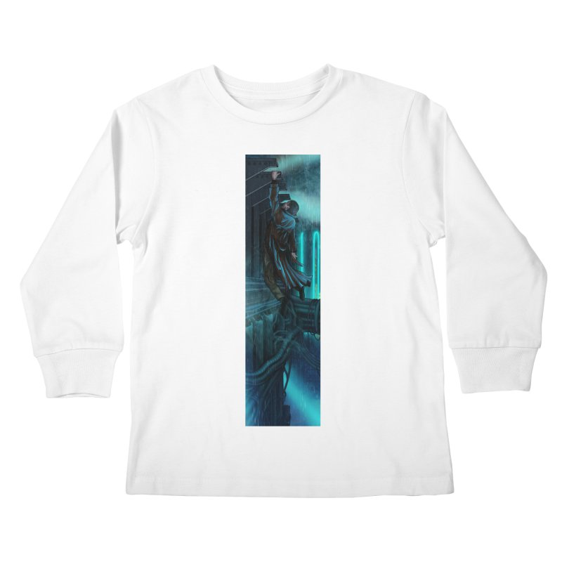 Hang in There-Deckard Kids Longsleeve T-Shirt by City of Pyramids's Artist Shop