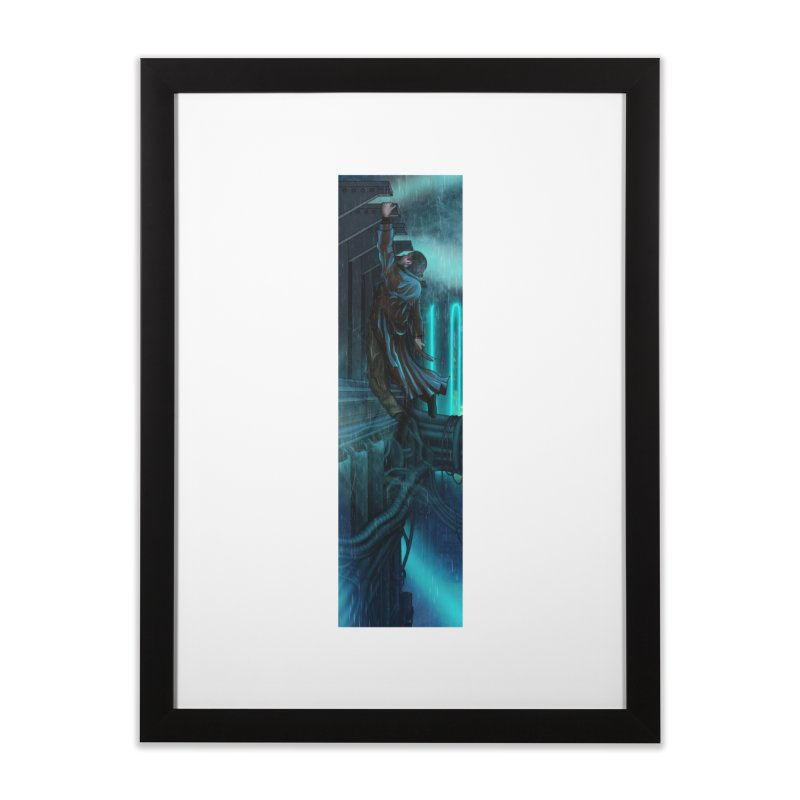Hang in There-Deckard Home Framed Fine Art Print by City of Pyramids's Artist Shop