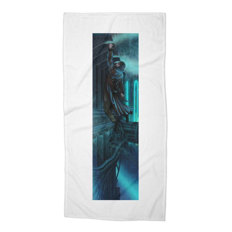 Hang in There-Deckard Accessories Beach Towel by City of Pyramids's Artist Shop