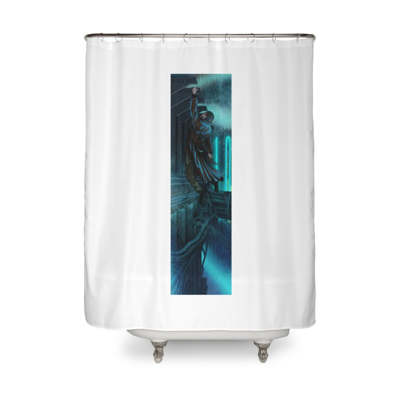 Hang in There-Deckard Home Shower Curtain by City of Pyramids's Artist Shop
