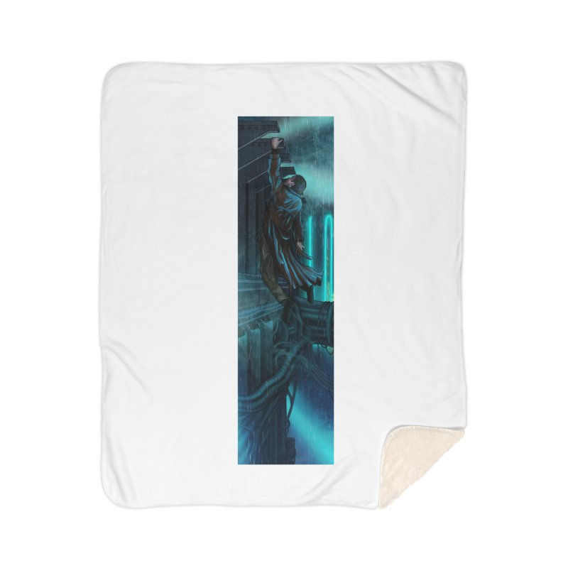 Hang in There-Deckard Home Sherpa Blanket Blanket by City of Pyramids's Artist Shop