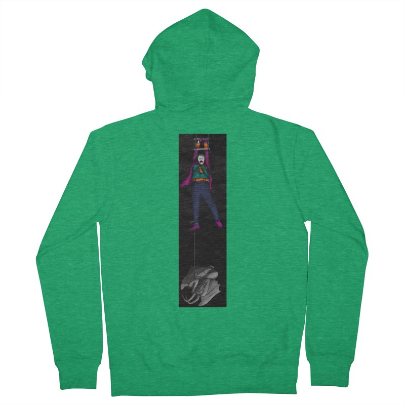 Hang in There-Joker Men's French Terry Zip-Up Hoody by City of Pyramids's Artist Shop
