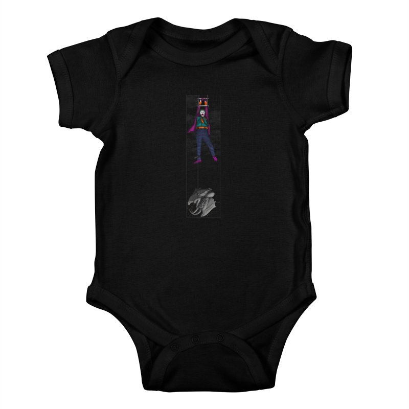 Hang in There-Joker Kids Baby Bodysuit by City of Pyramids's Artist Shop