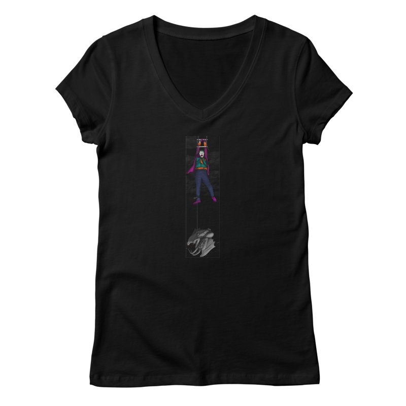 Hang in There-Joker Women's V-Neck by City of Pyramids's Artist Shop
