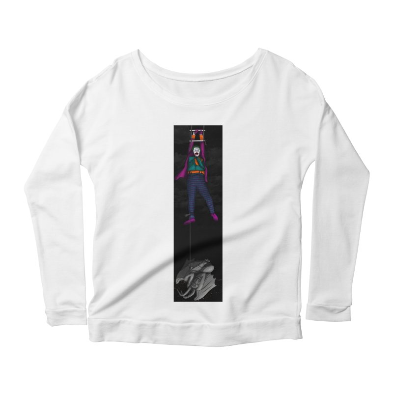 Hang in There-Joker Women's Scoop Neck Longsleeve T-Shirt by City of Pyramids's Artist Shop