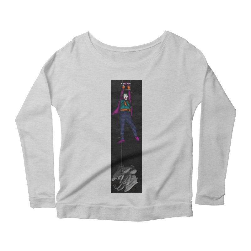 Hang in There-Joker Women's Scoop Neck Longsleeve T-Shirt by City of Pyramids's Artist Shop