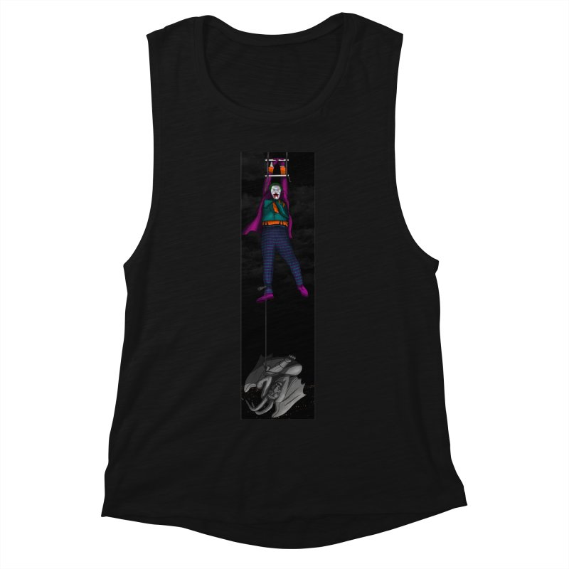 Hang in There-Joker Women's Muscle Tank by City of Pyramids's Artist Shop