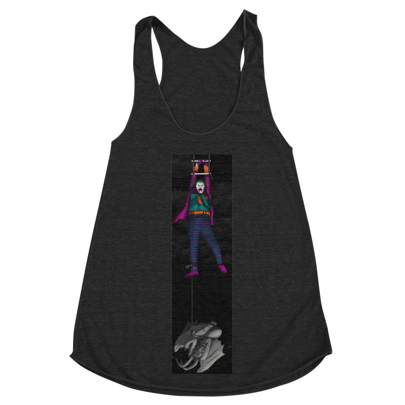 Hang in There-Joker Women's Racerback Triblend Tank by City of Pyramids's Artist Shop