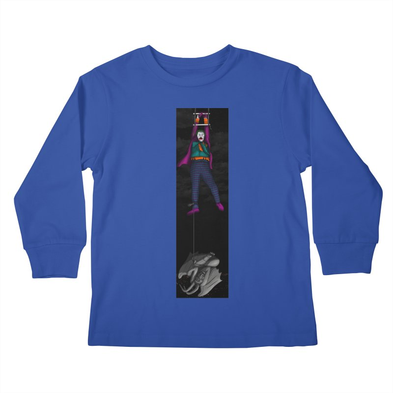Hang in There-Joker Kids Longsleeve T-Shirt by City of Pyramids's Artist Shop