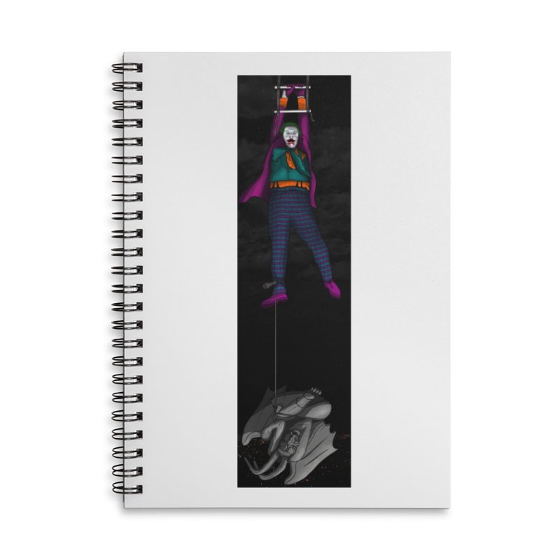 Hang in There-Joker Accessories Lined Spiral Notebook by City of Pyramids's Artist Shop