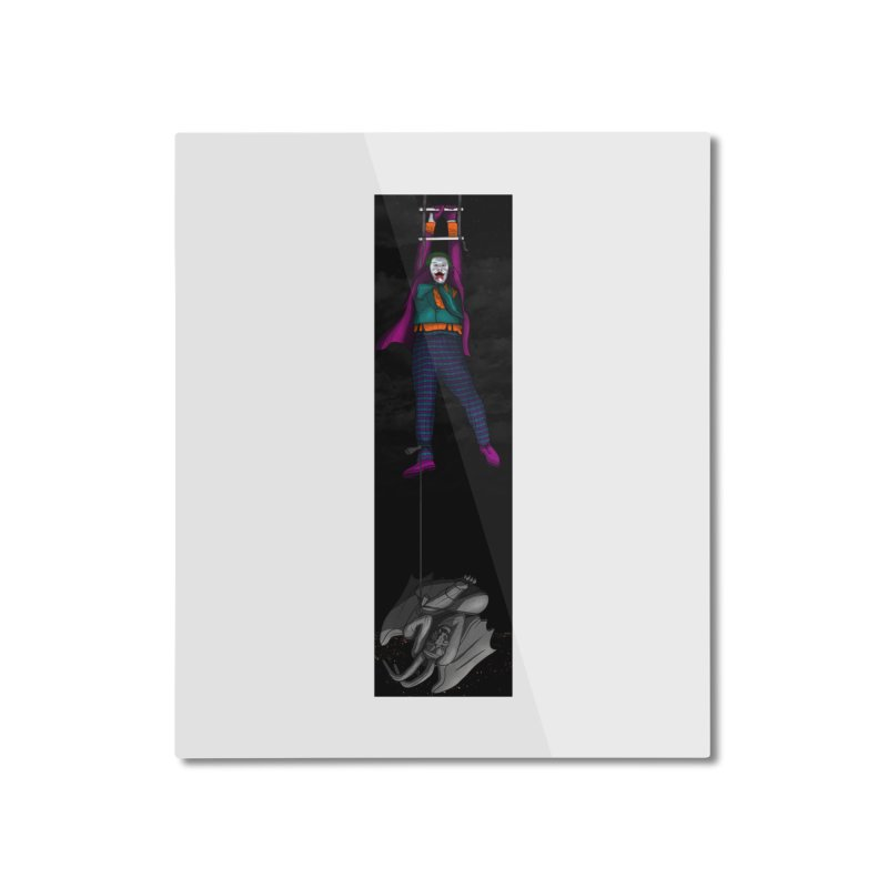 Hang in There-Joker Home Mounted Aluminum Print by City of Pyramids's Artist Shop