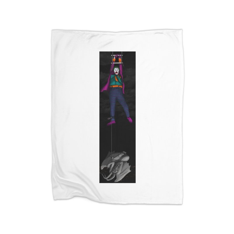 Hang in There-Joker Home Fleece Blanket Blanket by City of Pyramids's Artist Shop