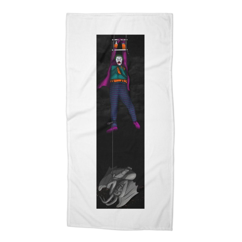 Hang in There-Joker Accessories Beach Towel by City of Pyramids's Artist Shop