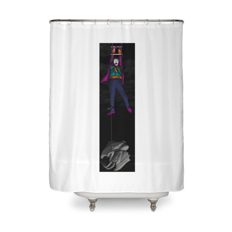 Hang in There-Joker Home Shower Curtain by City of Pyramids's Artist Shop