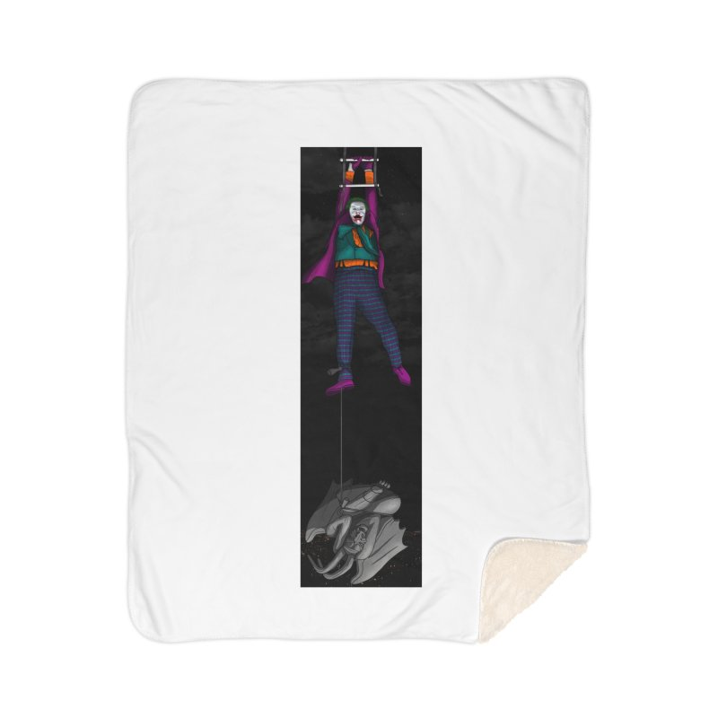 Hang in There-Joker Home Sherpa Blanket Blanket by City of Pyramids's Artist Shop
