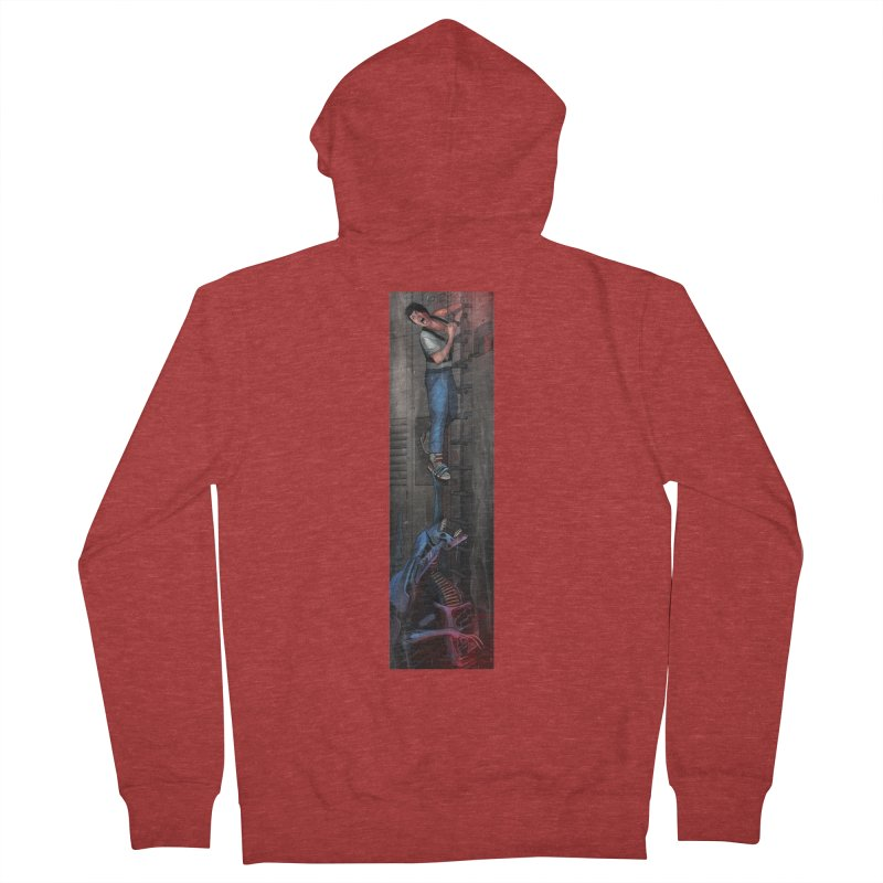 Hang in There-Ripley Men's French Terry Zip-Up Hoody by City of Pyramids's Artist Shop