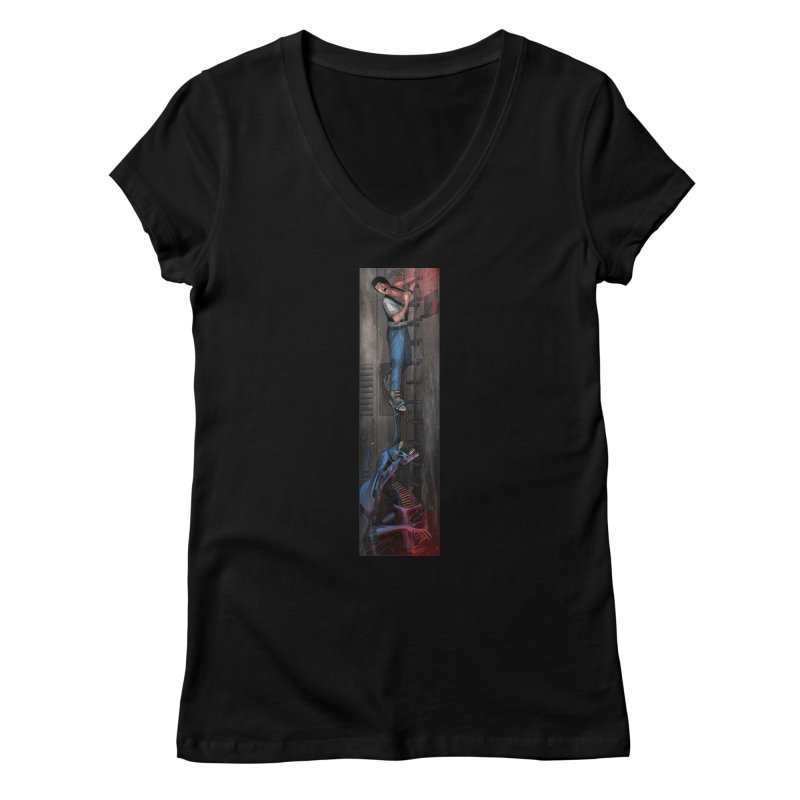 Hang in There-Ripley Women's V-Neck by City of Pyramids's Artist Shop