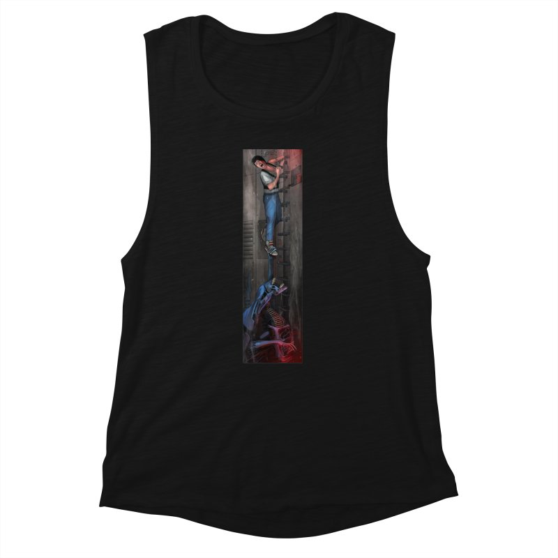 Hang in There-Ripley Women's Muscle Tank by City of Pyramids's Artist Shop