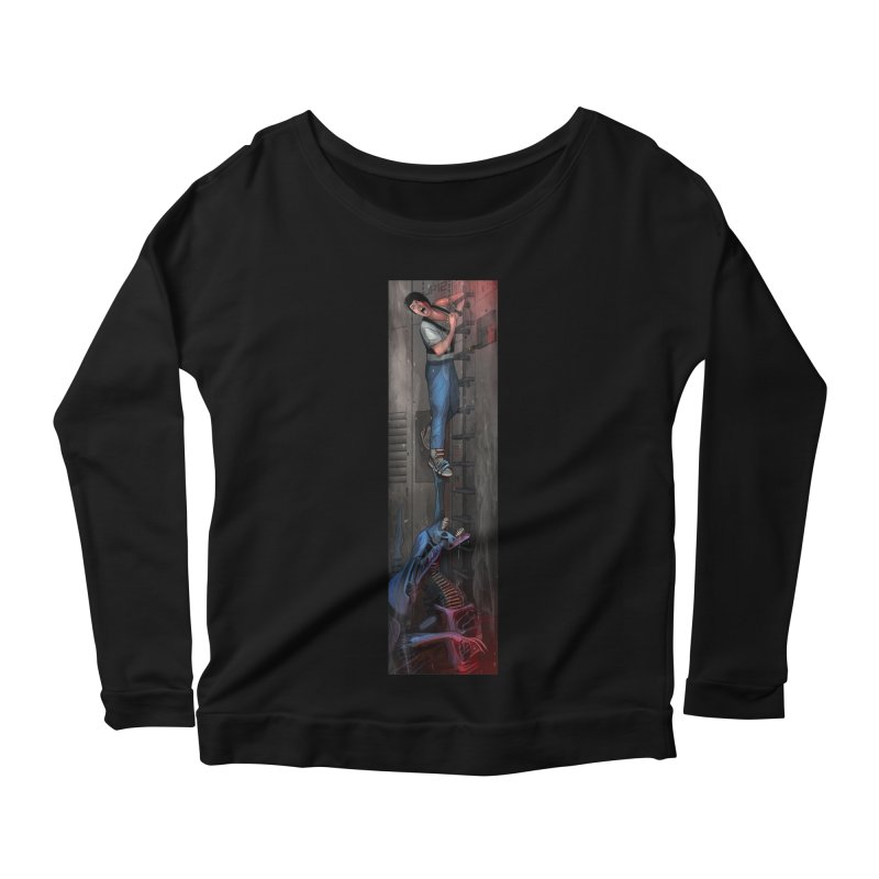 Hang in There-Ripley Women's Scoop Neck Longsleeve T-Shirt by City of Pyramids's Artist Shop