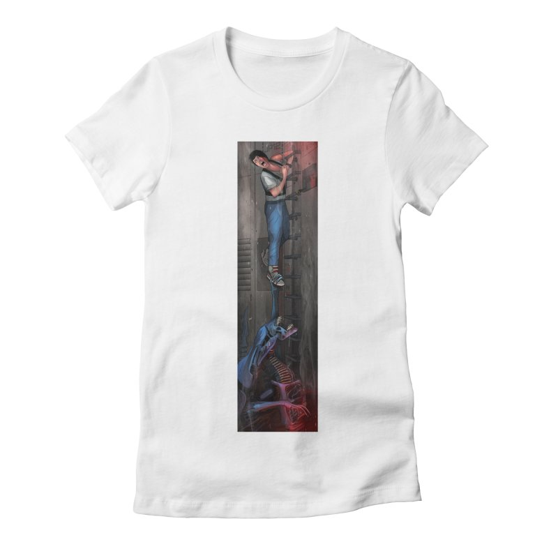 Hang in There-Ripley Women's Fitted T-Shirt by City of Pyramids's Artist Shop