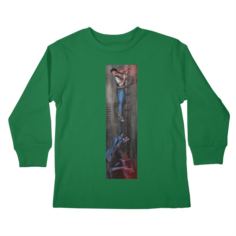 Hang in There-Ripley Kids Longsleeve T-Shirt by City of Pyramids's Artist Shop