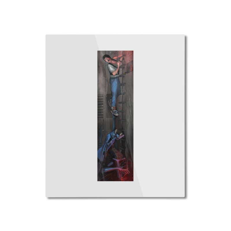 Hang in There-Ripley Home Mounted Aluminum Print by City of Pyramids's Artist Shop