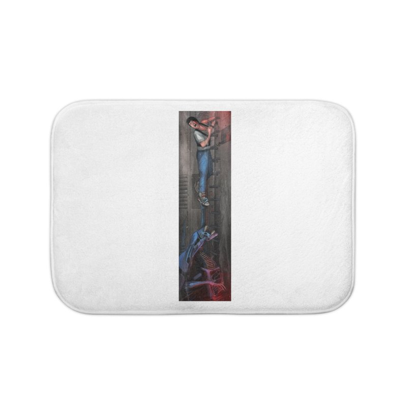 Hang in There-Ripley Home Bath Mat by City of Pyramids's Artist Shop