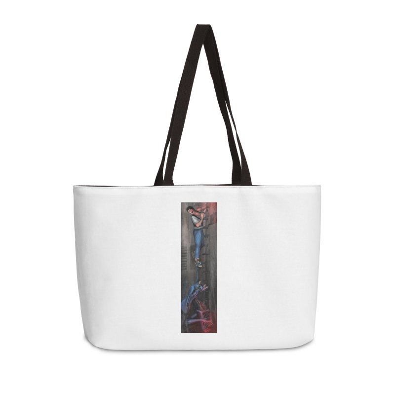 Hang in There-Ripley Accessories Weekender Bag Bag by City of Pyramids's Artist Shop