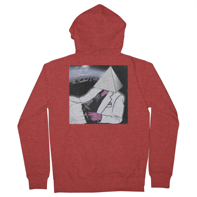 City of Pyramids - The Feedback Loop Men's French Terry Zip-Up Hoody by City of Pyramids's Artist Shop