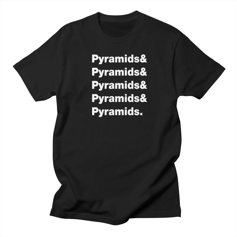 Pyramids & Pyramids in Men's Regular T-Shirt Black by City of Pyramids's Artist Shop