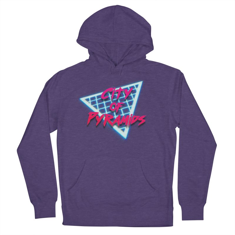City of Pyramids - Grid Men's French Terry Pullover Hoody by City of Pyramids's Artist Shop