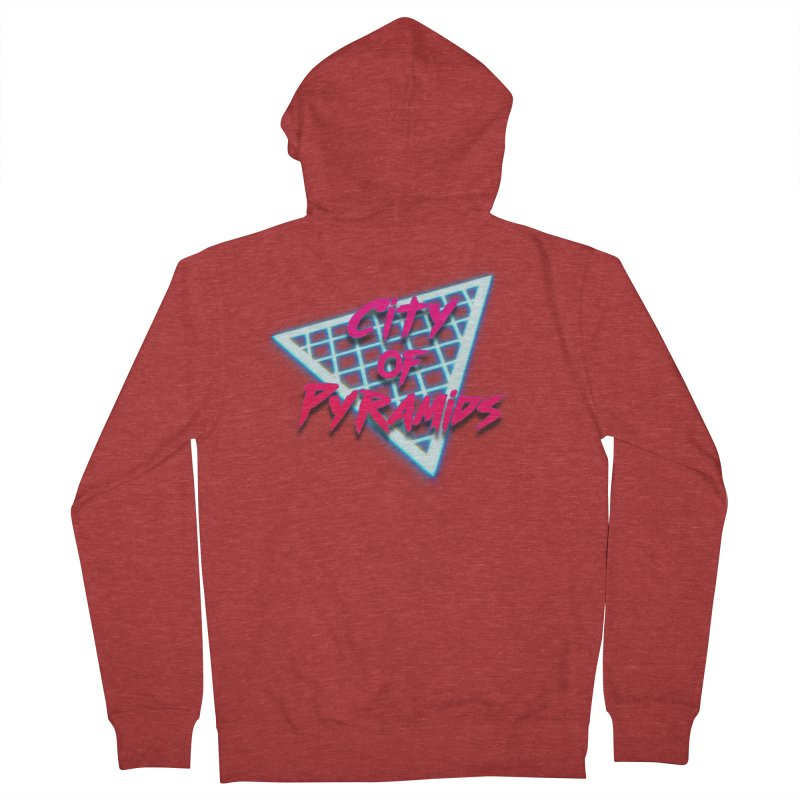 City of Pyramids - Grid Men's French Terry Zip-Up Hoody by City of Pyramids's Artist Shop