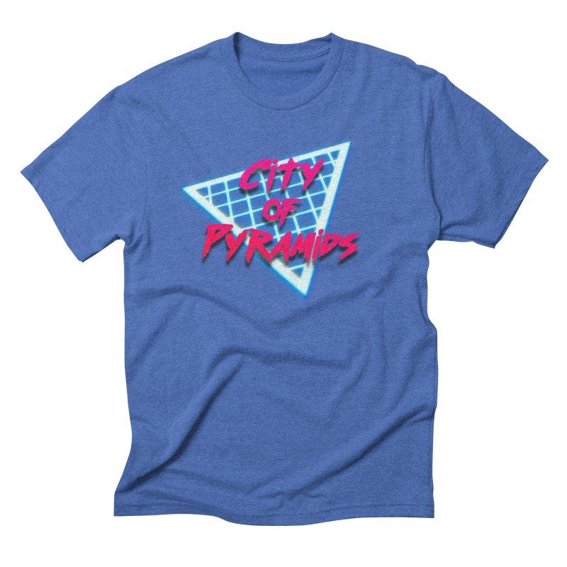 City of Pyramids - Grid Men's Triblend T-Shirt by City of Pyramids's Artist Shop