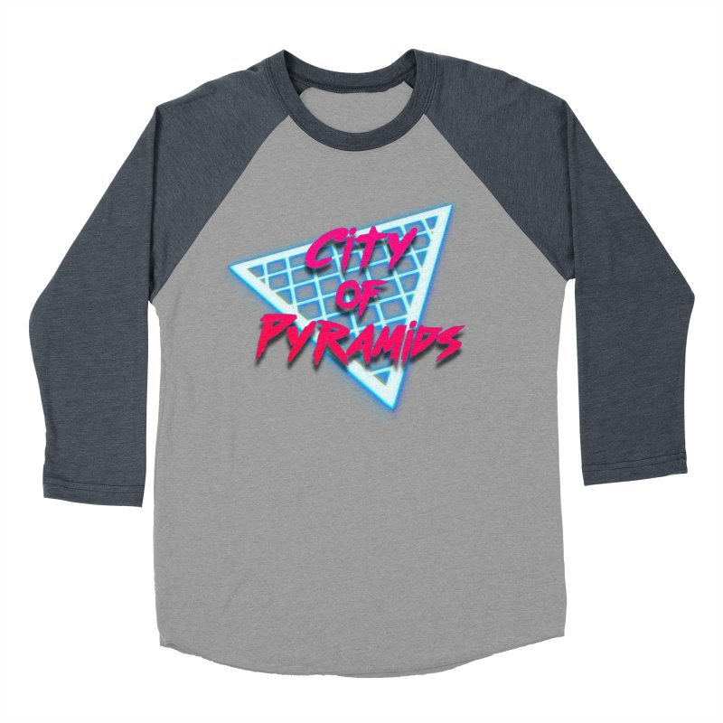 City of Pyramids - Grid Men's Baseball Triblend Longsleeve T-Shirt by City of Pyramids's Artist Shop