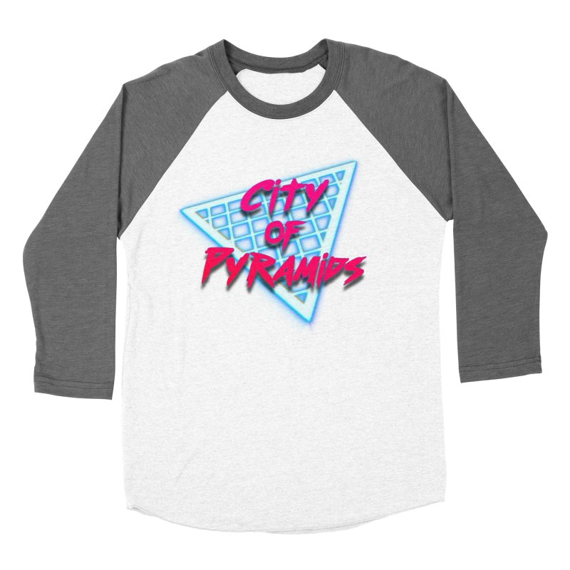 City of Pyramids - Grid Men's Baseball Triblend Longsleeve T-Shirt by City of Pyramids's Artist Shop