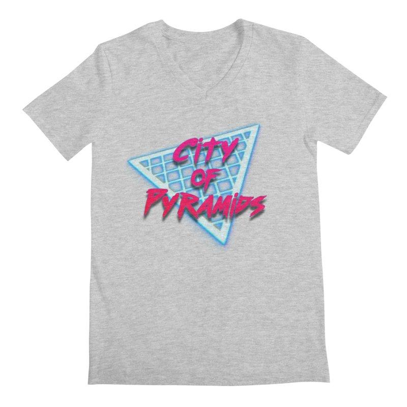 City of Pyramids - Grid Men's Regular V-Neck by City of Pyramids's Artist Shop
